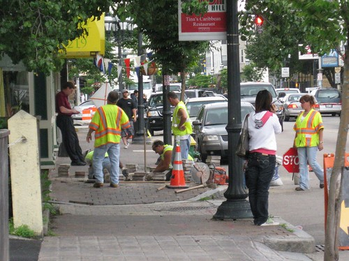 Sidewalk work on Atwells Avenue