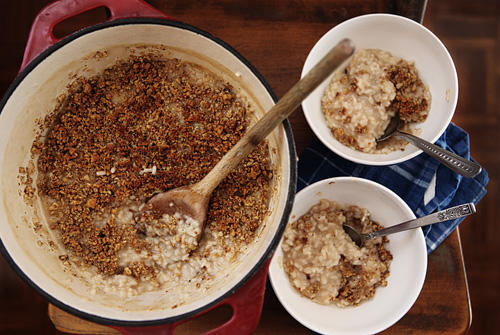 Baked Risotto with a Walnut Parmesan Crust