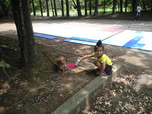 流山講習メメと子供