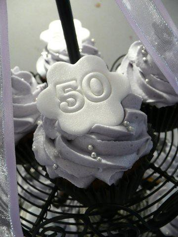 50th Birthday Cupcakes