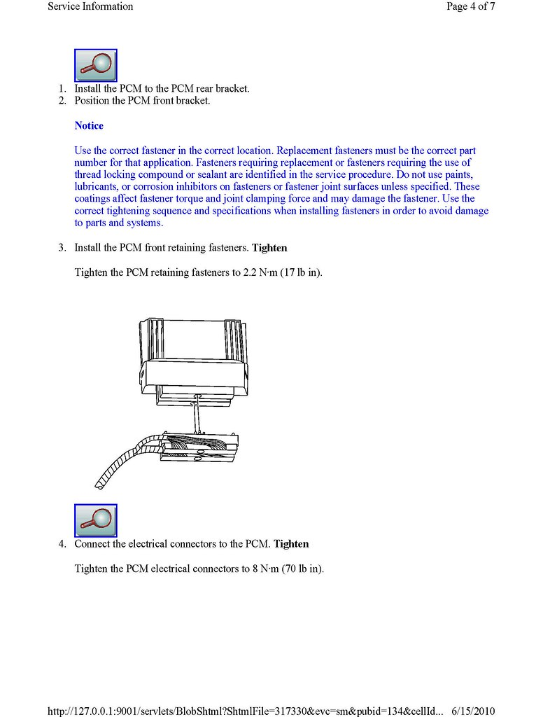 PCM screw torque? - CorvetteForum - Chevrolet Corvette Forum