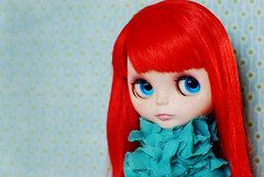 I'm confiscating this.... (onecoppercent) Tags: red jubilee blythe custom hybrid takara pcm rbl frfr sugaroni fantasyhair