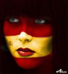 Visca España (ZiZLoSs) Tags: world africa españa macro cup girl face canon logo eos spain flag south usm f28 aziz 2010 ef100mmf28macrousm abdulaziz عبدالعزيز ef100mm 450d zizloss المنيع canoneos450d 3aziz almanie abdulazizalmanie httpzizlosscom