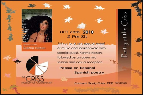 Karima Hoisan Poetry at The Criss