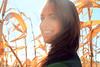 Stephy IV (Shandi-lee) Tags: autumn fall girl smile sunshine cornfield october warm naturallight brunette