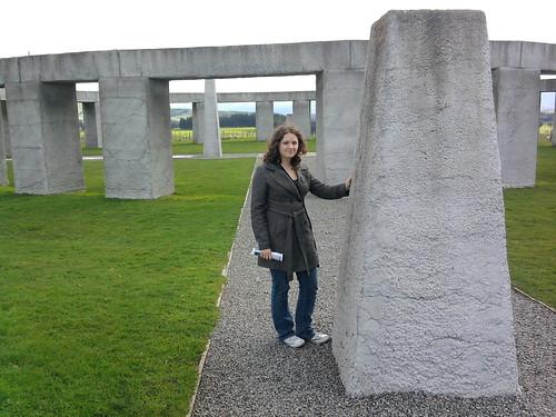 Hannah at Stonehenge Aotearoa
