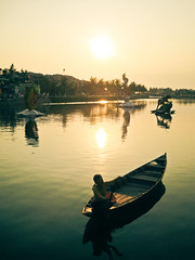 Afternoon Delight [Explored] (Oh beautiful world.) Tags: travel sunset sun water river boats vietnam hoian ohbeautifulworld hannekevollbehr