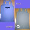 Camiseta Jack murcielagos gris (Mhemnoch) Tags: jack handmade camisetas pesadillaantesdenavidad hechoamano murcielagos camisetaspintadasamano eltallerdemhemnoch eltallerdemhemnochtk