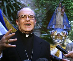 Cuban Cardinal Jaime Ortega Alamino speaks Jan. 11 at the opening of an art exhibit in Havana commemorating the fifth anniversary of the historic visit of Pope John Paul II to Cuba. He said that since the pope's visit church relations with the Cuban gover