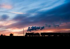Homeward Bound (4macfotography) Tags: autumn sunset sun black silhouette train vibrant vivid steam locomotive morayshire gcr preservedrailway supershot lastnightsky