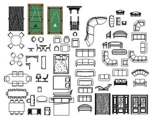 Libreria de 8 000 bloques gratis de autocad para descargar for Muebles de cocina planos pdf