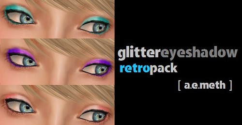 Glitter Eyeshadow: Retro Pack