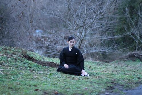[Exhalation] Sayuri (Tomoe Shinohara) in mourning robes