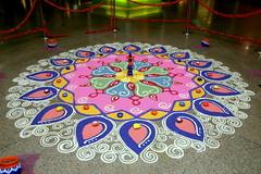 Deepavali 2010 in MidValley (Patricia Yeo) Tags: diwali mv kolam deepavali midvalley riceart