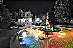 Selective Color - Parliament Victoria, BC 'Victoria at Night' (A. d'Oliveira) Tags: sky color night stars britishcolumbia contest victoria humber foutain selectivecolor humbercollege ppoc