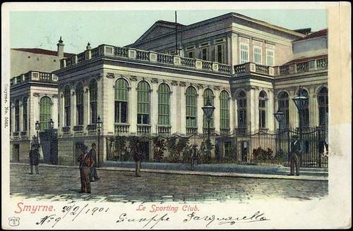 Karpostallarda yangından önce İzmir, Spor Kulübü