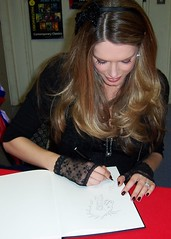 Tara Moss signing books at Galaxy Bookshop - 4/11/2010