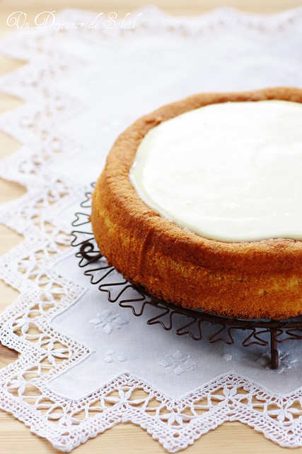 Fondant aux cannellini, sauce chocolat blanc yaourt