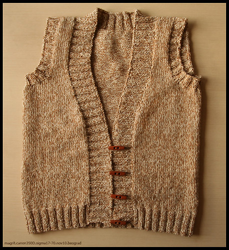 beige vest, finished