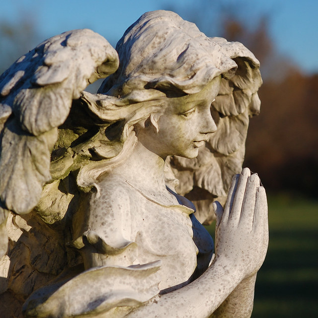 Saint Francis Borgia Cemetery, in Washington, Missouri, USA - statue of an angel
