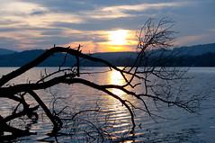 Lac de Paladru, France (Nicolas Gailland) Tags: sunset sun lake france nature water canon landscape soleil eau coucher lac paysage marche ballade isere paladru charavines