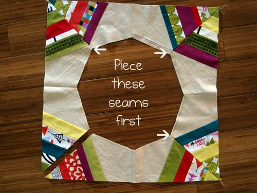 Christmas Tree Skirt Piecing 3b