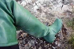 Daiwas at Dusk (essex_mud_explorer) Tags: daiwa rubber thigh boots waders watstiefel cuissardes thighboots thighwaders gummistiefel rubberlaarzen hunter gates uniroyal coarsefisher green