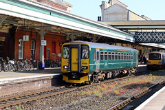 153368   Great Western Railway   2F45 1612 Paignton-Exmouth (Jacob Tyne) Tags: class 153 153368 1533 super sprinter dmu diesel multiple unit fgw gwr first great western railway green exeter st davids