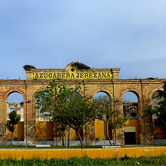 El Portal, Azucarera Jerezana (pom.angers) Tags: panasonicdmctz30 april 2017 spain españa andalusia andalucìa jerezdelafrontera europeanunion bird birds stork ruins elportal 100