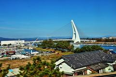 Bridge on the coast near Shizuoka (静岡) (Albert Jafar) Tags: bridge atami 熱海 shizuoka 静岡 shinkansen 新幹線 highspeedtrain japanimages japan photographerswharf worldtrekker