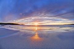 The twist (pauldunn52) Tags: beach host north uist outer hebrides scotland wet sand glow sunburst reflection