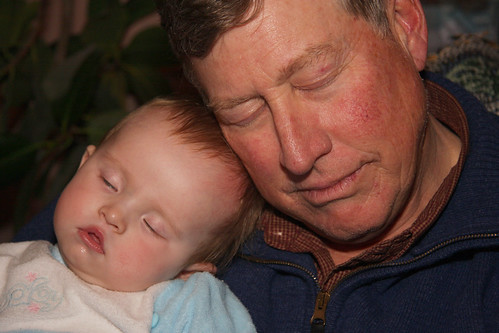 Snoozing with Grandpa