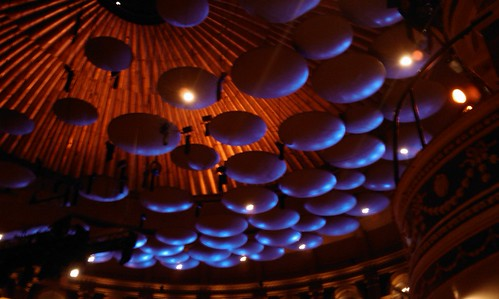Royal Albert Hall acoustic baffling disks