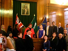 With all the other proud new citizens (yahnyinlondon) Tags: uk winter people colour london photo thequeen hackneytownhall newcitizens amandajahn flickr:user=yahnyinlondon britishcitizenshipceremony formerspeakerofhackney