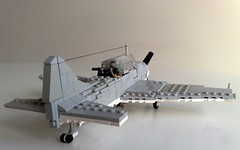 SBD rear (Babalas Shipyards) Tags: scale lego aircraft military douglass minifig usnavy dauntless minifigure sbd