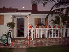 Picture 799 (legogrrl4) Tags: christmas moon house halloween pumpkin jack lights jackolantern before porch nightmare decor
