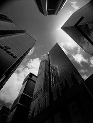 the group of four (mugley) Tags: city sky urban blackandwhite bw 120 film glass architecture modern clouds rollei buildings mediumformat reflections prime hotel 645 skyscrapers towers grain perspective angles australia melbourne wideangle victoria southerncross scan lookup negative epson cbd backlit stamford polarizer 6x45 r3 aon sx1 offices mamiya645 urbanlandscape redfilter xtol polariser 25a v700 mamiya645protl m645 ltcollinsst rolleir3 formernauruhouse sx2 80collins 35mmf35sekorn bataphobia buildingupskirt