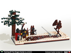 Training of The Dragon Hunter (1) (pitrek02) Tags: castle town dragon lego poland ccc moc lugpol cccvii
