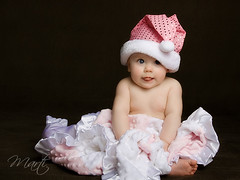 Happy New Year for 2010!! (FLPhotonut) Tags: pink portrait baby cute sparkles toes blueeyes personality happynewyear 2010 homestudio 5monthsold january1 sigma1770 canon50d pinksantahat portraitclassicshalloffame flphotonut interfit150mkii