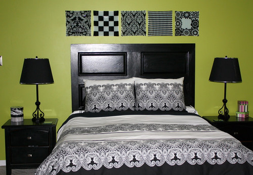 My $3.00 Black Door Headboard