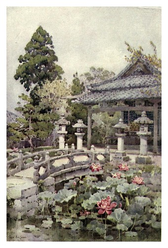 024-Lotos en Kyomidzu-The flowers and gardens of Japan (1908)-  Ella Du Cane