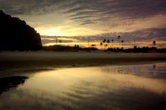 Sunset from Pandak Beach (suhaila76) Tags: sunset reflection beach asia coconut malaysia tress terengganu chendering pandak