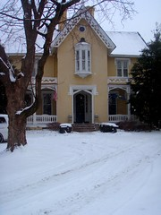 front of main house with snow everywhere