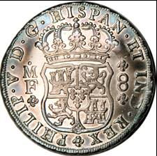 Fig 1.30, Milled Spanish Pillar Dollar 1735 (R)