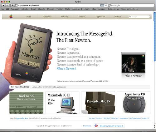 Apple.com, circa 1993