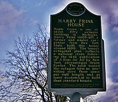 Harry Frink historical marker-Oxford (SCOTTS WORLD) Tags: county house architecture oakland michigan space january style oxford round marker historical octagon 248 1848 2010 1850 alltherage sonydsc650 harryfrink ahomeforall orsonfowler