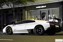 Lamborghini Murcielago LP 670 SV (Murphy Photography) Tags: uk london night speed italian nightshot harrods lp expensive lamborghini supercar qatar 670 arabs  murielago