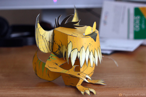 Thorndyke Monster Papercraft 02