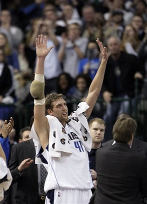 Dirk Nowitzki of the Dallas Mavericks had 17 points Sunday.  Image Provided by Outside the NBA on Flickr.com