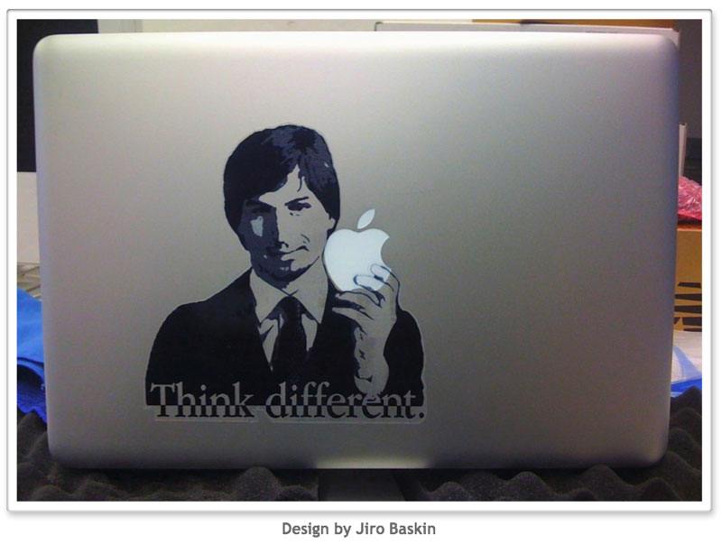 Steve Jobs Vinyl Macbook Decal